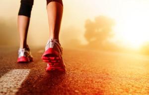 Laufen auf Asphalt
